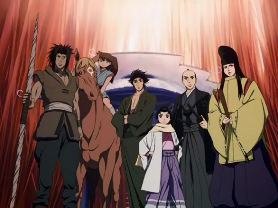The main cast of Tenpou Ibun Ayakashi Ayashi