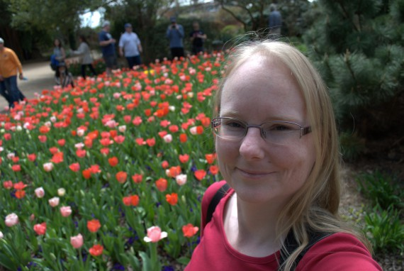 me and many tulips
